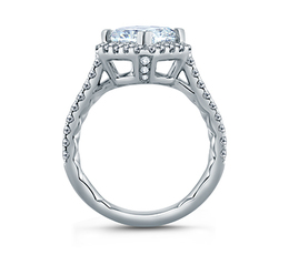 A. Jaffe Diamond Set Pave Princess Cut Engagement Ring image 3