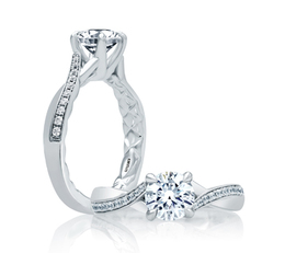 A. Jaffe Asymmetrical Bypass Engagement Ring image 2