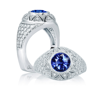 A. Jaffe Diamond Studded Designer Engagement Ring image 2