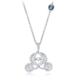 Cinderella's Carriage Heartbeat Diamond Pendant 1/2cttw  in 14K White Gold image 2