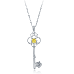 Belle Key Pendant in Sterling Silver image 2