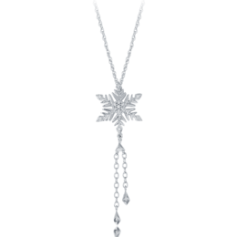 Elsa Frozen Snowflake Lariat Pendant in Sterling Silver image 2