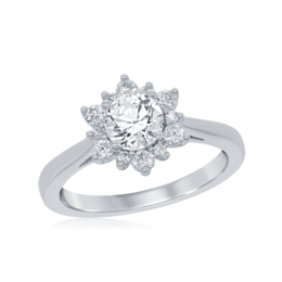 Elsa Frozen Engagement Ring in 14k white gold image 2