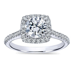 Polenza 14K White Gold Diamond Engagement Ring