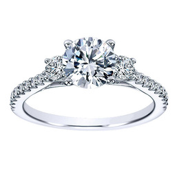 Stunning Three Stone Polenza Engagement Ring