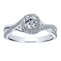 Sparkling 14K Polenza Diamond Engagement Ring