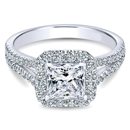 Diamond Halo Polenza Engagement Ring