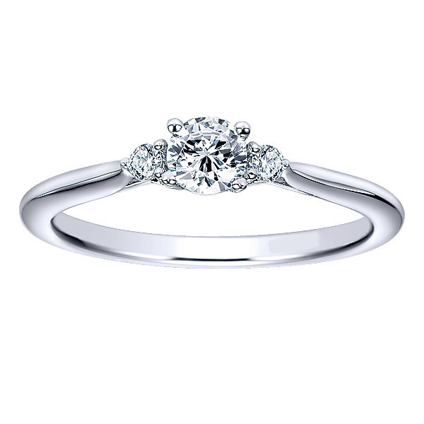 Lovely Polenza Diamond Engagement Ring