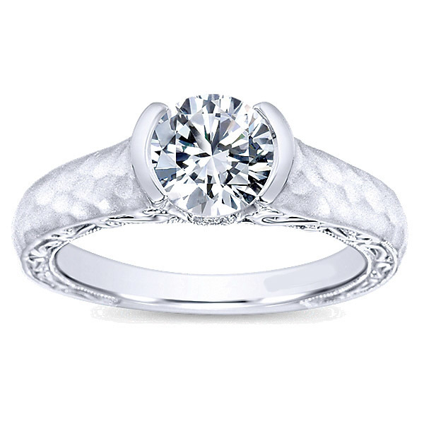 14K White Gold Polenza Engagement Ring