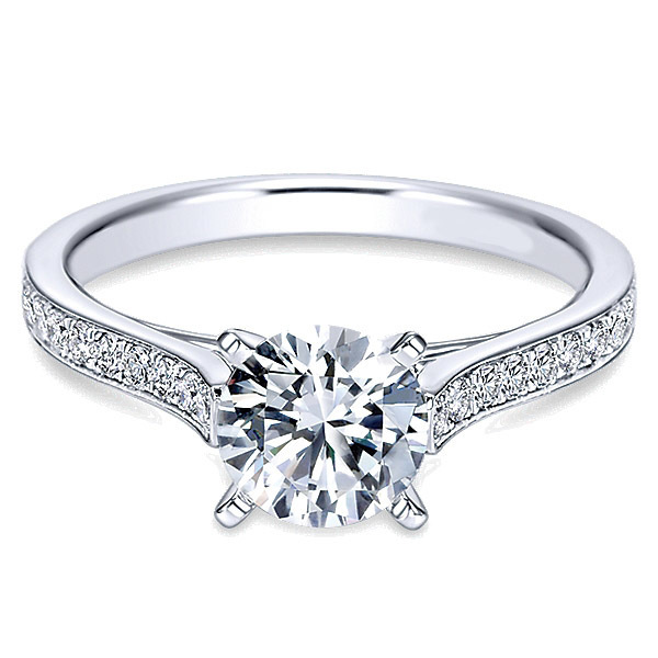 Classic Diamond Engagement Ring By Polenza