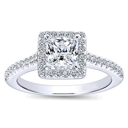 Radiant Diamond Engagement Ring By Polenza