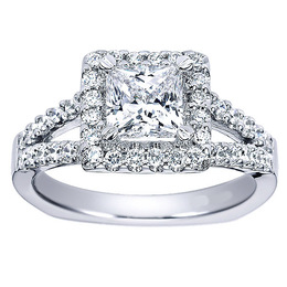 Gorgeous Diamond Halo Polenza Engagement Ring