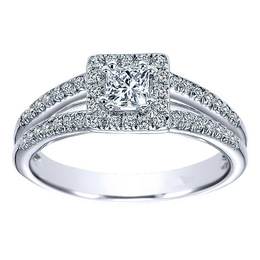 14K Split Shank Engagement Ring By Polenza