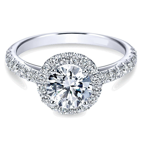Polenza 14K White Gold Engagement Ring