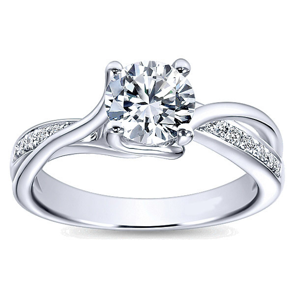 Breathtaking Twisted Engagement Ring By Polenza