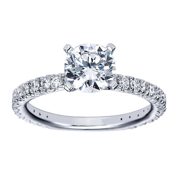 Radiant Polenza Engagement Ring