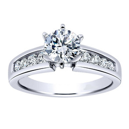 Gorgeous Contemporary Polenza Engagement Ring