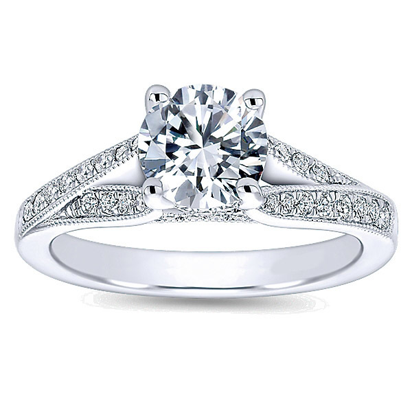 Stunning Split Shank Engagement Ring By Polenza