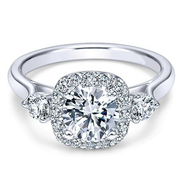 Stunning 14K Polenza Engagement Ring
