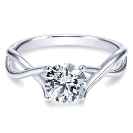 Striking 14K Polenza Engagement Ring