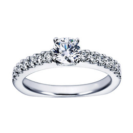Classic White Gold Polenza Engagement Ring