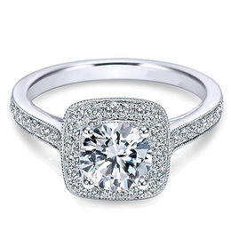 Stunning 14K White Gold Polenza Engagement Ring