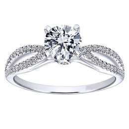 Radiant 14K Polenza Engagement Ring