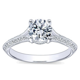 Victorian Split Shank Engagement Ring By Polenza