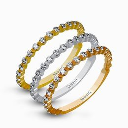 Simon G 18K White, Yellow & Rose Gold Stackable Right-Hand Ring image 2