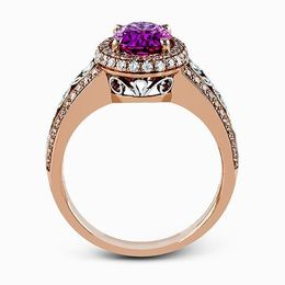 Simon G 18K White & Rose Gold Pink Sapphire Fashion Ring image 3