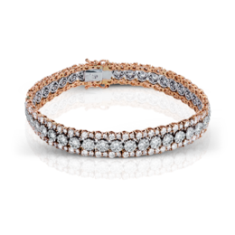 Simon G 18K Two-Tone Rose & White Gold Lovely Bracelet image 2