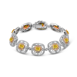 Simon G 18K Yellow, Rose & White Gold Vintage-Inspired Bracelet image 2