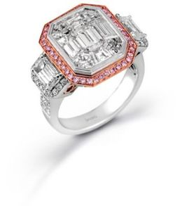Simon G Fancy Mosaic Diamond Ring