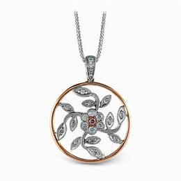 Simon G. Diamond Circle Pendant