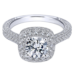 Alluring Diamond Engagement Ring By Polenza