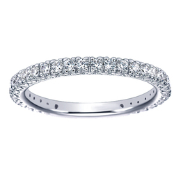 Sparkling 14K White Gold Polenza Wedding Band