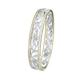 Simon G Flower Diamond Bangle