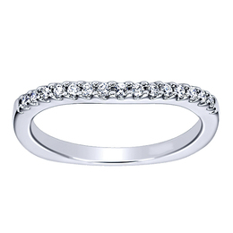 Radiant Curved Wedding Band By Polenza