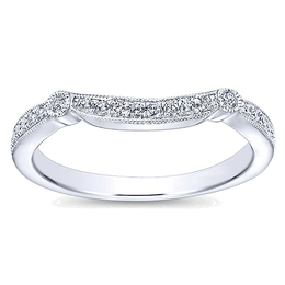 Classic Curved Wedding Band By Polenza