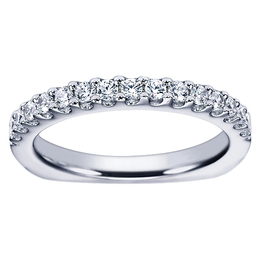 Polenza Wedding Band in 14K White Gold