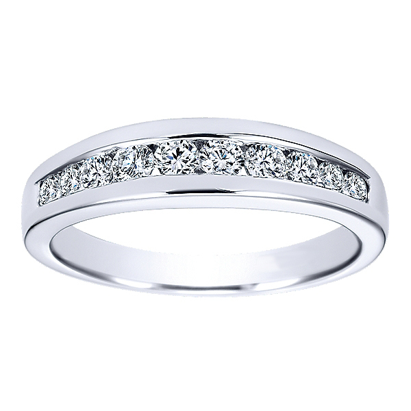 Elegant Polenza Wedding Band in White Gold