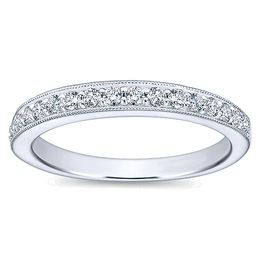 Classic Diamond Wedding Band By Polenza