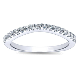 Gorgeous Curved Polenza Wedding Band