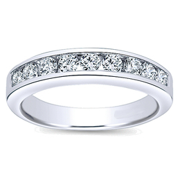 14K Polenza Diamond Wedding Band