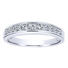 Polenza 14K Diamond Wedding Band