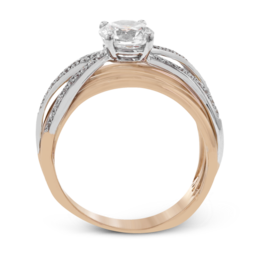 Simon G 18K White & Rose Gold Modern Diamond Engagement Ring image 3