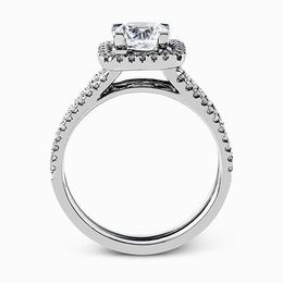 Simon G 18K White Gold Eye-Catching Design Diamond Engagement Ring image 3