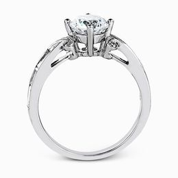 Simon G 18K White Gold Spectacular Diamond Engagement Ring image 3