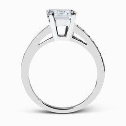 Simon G 18K White Gold Dazzling Contemporary Design Engagement Ring image 3