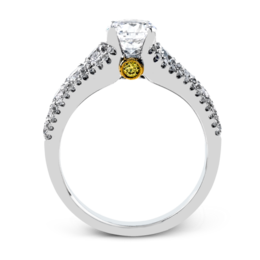 Simon G 18K White & Yellow Gold Modern Diamond Engagement Ring image 2